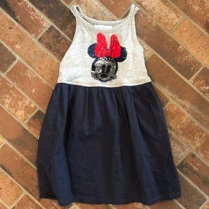 Gap girls xs Minnie Mouse flippy sequin tank dress